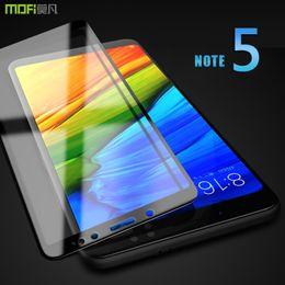 2019 примечание: hd full Redmi Note 5 стекло закаленное пленка MOFI для xiaomi redmi note 5 глобальный закаленное стекло 2.5 D полное покрытие ясно HD протектор экрана дешево примечание: hd full