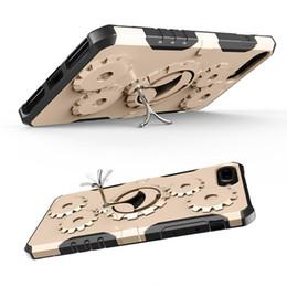 anillo 3en1 Rebajas 3in1 Sports Bag + Phone Stand Holder Para iPhone 6 4.7 pulgadas Anillo de Metal de Lujo Engranaje Caja de Teléfono A Prueba de Choques Para iPhone 6s 4.7 pulgadas Cubierta