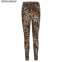 Wholesale Leopard Stretch Pants - sexy Leggings Womens 2017 Leopard Leggings Print Skinny Pants High Elastic stretch pants female winter geometric jeans leggins