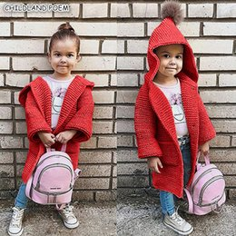 f65c6b0f1e4e Baby Girls Sweater Coat Autumn Toddler Sweater Long Sleeve Cardigan For  Girls Hooded Kids Knitted Clothes Pullover