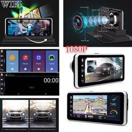 "russia car dvr Coupons - WIFI HD 1080P 6.5"" GPS Navigation Android Car DVR Dual Lens Camera Recorder FM Free Shipping"