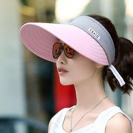 Nueva versión coreana del sombrero para el sol al aire libre Travel Sun  Protection Air Cap Summer Fashion Sports Visor ecec73c2347