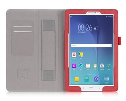 Wholesale S3 Flip Pu Leather Case - Folio Flip Leather Magnetic Stand Case Card Slot Hand Housing Holder Cover for Samsung Galaxy Tab A E S3 S2