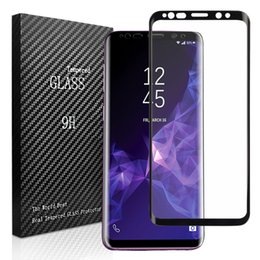 Wholesale Durable Screen Protector - For SAMSUNG S9 Anti-Fingerprint Anti-Oil Durable Smooth High Permeability Tempered Glass Full Screen Protector 3D Curved 9H Hardness