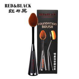 RedBlack Escova De Dentes Pincéis de Maquiagem Set Foundation Blending Powder Eyeshadow definição escova beleza maekeup conjunto de ferramentas de