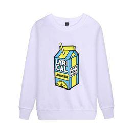 2019 sudaderas hba blanco limonada lírica Sweatershirt Sudadera con capucha divertida para hombres / mujeres música Sudadera con capucha Sweatershirt