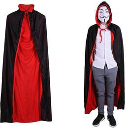 2019 capo nero di costume Più nuovo Halloween Cape Double Side Vampire  Black Red Cape Unisex b79e40e3640