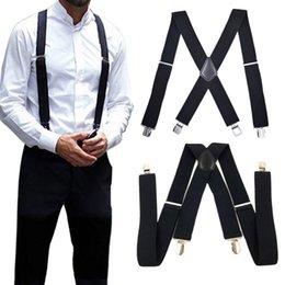 grossistes cravates pour hommes bowties Promotion Bretelles robustes élastiques robustes élastiques de 50mm réglables simples pour hommes ou femmes