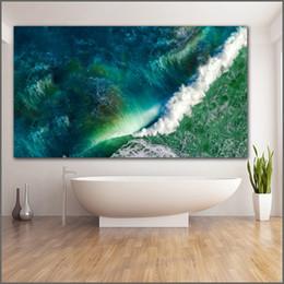 óleo, arte, oceânicos, ondas Desconto Impressão em tamanho grande Pintura A Óleo ondas mar oceano estoque arte da parede da lona de impressão fotos para sala de estar e quarto Sem Quadros Y18102209