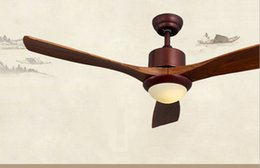 deckenventilatoren modern zeitgenössisch Rabatt 220V ~ 260V LED Lichter Ventilator Anhänger Holz Blatt Wohnzimmer minimalistischen chinesischen Restaurant Fan Anhänger mit Fernbedienung