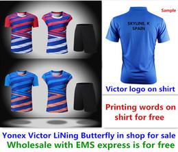 En gros EMS gratuitement, impression de texte gratuite, nouveaux vêtements de chemise de badminton vêtements de chemise de tennis de table T sport 1173 ? partir de fabricateur