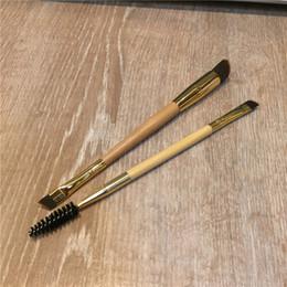 TT Serisi Bambu Çerçeve işi çift uçlu kaş fırçası - Pudra Kremi Prodcuts için Sentetik Saç - Güzellik nereden bambu saç fırçaları tedarikçiler