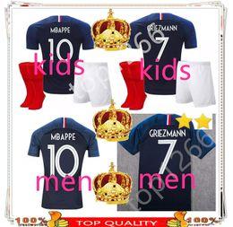 Juego de niños France 2 estrellas GRIEZMANN MBAPPE Camiseta de fútbol POGBA 2018 Copa del mundo infantil Jersey DEMBELE Camiseta de fútbol GIROUD Maillot de desde fabricantes