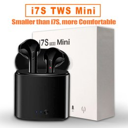 Wholesale iphone color gold - I7S Mini TWS Bluetooth Headphones Wireless Earphones Double Earbuds with Charging Box for iPhone X Android with Retail Package