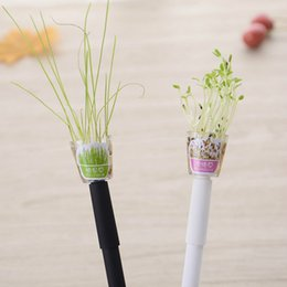 gel da giardino Sconti New Creative Cultivate Plant Pen Penna 0.5mm Nero Ink Garden Grow Grass Pen Office Cancelleria Lovely Children Lovers Gift