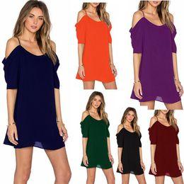 2019 повседневные высокие низкие юбки Женская мода высокого качества свободные платья свободного покроя шифоновая юбка женщины топы свободные с низким воротником с коротким рукавом платье T2I287 дешево повседневные высокие низкие юбки