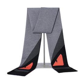 Mais recente Marca Engraçado Olhos Homens Cachecol Designer De Moda de Alta Qualidade Cachecóis De Inverno Longo Xaile para Os Homens de