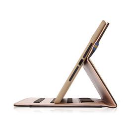 Caixa de couro do ipad da mão on-line-Top Quality Business Dobrável PU Couro Elastic Hand Strap Stand Case Para apple ipad air 2 ipad funda tablet capa para ipad air2