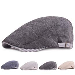 1f0129f25ed Adjustable Beret Caps Spring Summer Outdoor Sun Breathable Bone Brim Hats  Womens Mens Solid Color Flat Berets Cap Hat