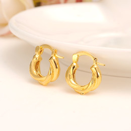 Wholesale Brazilian Jewelry - 2pairs 24K African Round Earrings for Women girls Gold Color Jewelry,Ethiopian Arab Brazilian Africa Middle East Nigeria gift
