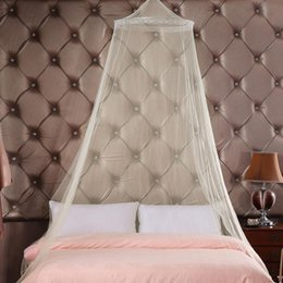 mosquito net fabric Australia - Elegant Hung Dome Canopy Round Lace Mosquito Nets For Summer Polyester Mesh Fabric Bedding Mosquito Net Home Furniture