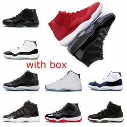 Wholesale glitter box - With box 11 11s Prom Night Cap and Gown Mens womens Basketball Shoes Gym Red Midnight Navy Trainers sports sneakers size 5.5-13