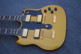 Canada Livraison Gratuite China Factory guitares Personnalisé d'or 1275 Double Cou Guitare Électrique 3 micro 6/12 cordes guitares guitarra cheap 12 string electric guitar necks Offre