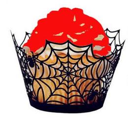 Canada Nouveau Halloween évidé Spiderweb Citrouille Terror Castle Gâteau Tasse En Papier Moule Cuisine Ustensiles De Cuisson Accessoires De Cuisson 12pcs / ensemble Offre