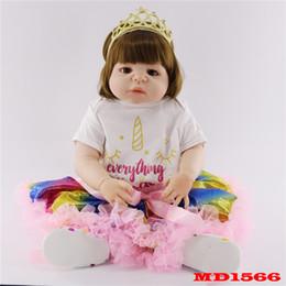 DOLLMAI olhos castanhos Menina Silicone Reborn Bebês Bonecas Educação Brinquedos bonito Do Bebê Lifelike Bebe Reborn Menina Bonecas presente Das Crianças de