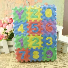 puzzles das crianças Desconto 2018 new crianças numeral piso de espuma mat jigsaw play mat puzzle crianças diy brinquedos piso telha jogo c3396
