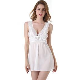 Canada Femmes Sexy White Perspective Dentelle Pyjamas Loisirs Maison Porter Femme Accueil Porter Des Vêtements Pyjamas Ensemble Sangle Pyjamas Offre