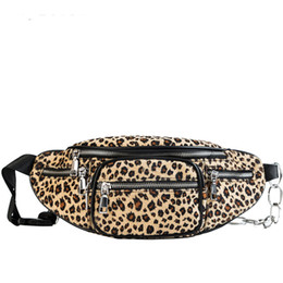 funny beads Coupons - BENVICHED Leopard Print Waist Bags For Women Suede Chain Funny Pack Female Belt Bags With Iron Beads Small Chest Bag New D87