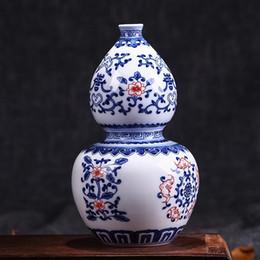 Wholesale Modern Decoration White Vase - Jingdezhen Antique Underglazed Blue And White Ceramic Vase Home Decoration Crystal Glaze Ceramic Vase Flower Decoration