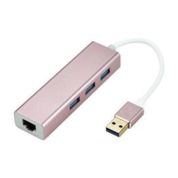 Ordinateur matériel en Ligne-Hub USB3.0 en métal approprié aux ordinateurs de bureau, ordinateurs portables, ordinateurs portables ultra-légers, consoles de jeux,