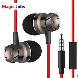 Teléfonos móviles de sonido mágico online-Magic Jobs Earphone Fashion Design TurbineShape HIFI estéreo Good Sound Music Headset Manos libres Auriculares con micrófono para teléfono móvil