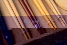 noël japonais en gros Promotion En gros-5 paires de baguettes + 1 pc riz scoop Baguettes naturelles Style japonais Vaisselle Suit Vaisselle De Mariage Cadeaux D'anniversaire De Noël