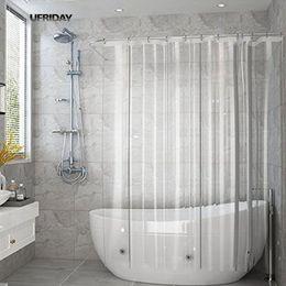 2019 country set da bagno UFRIDAY Tenda da doccia trasparente completa Tende da bagno trasparenti Fodera PEVA Muffa impermeabile Tenda da bagno in tessuto impermeabile per la casa