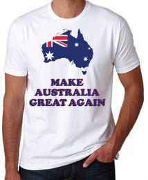 706f7fc697a Make Australia Great Again Aussie Pride Straya Trump Slogan Mens White T  Shirt Cotton Loose Short Sleeve Mens Shirts Middle Aged