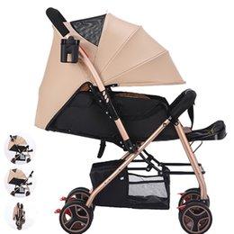 Carrinhos leves dobrados on-line-alta qualidade leve carrinho de bebê sentado pode reclinável dobrável 1-3 anos de idade criança simples carrinho portátil
