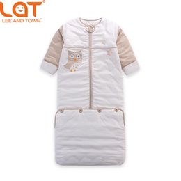 Wholesale Bag Thickness - LAT Baby Toddler 110cm Length Winter Warm Sleeping Bag SleepSack Swaddle Thickness Wrap Bedding Set 2.5 Tog for 0-5 Years Unisex
