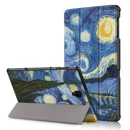 2019 notas de caso Capa de Couro Funda PU para Samsung Galaxy Tab A 2018 T590 T595 SM-T597 Tablet Tampa 10,5 inteligente com Auto sono Despertar + Stylus desconto notas de caso