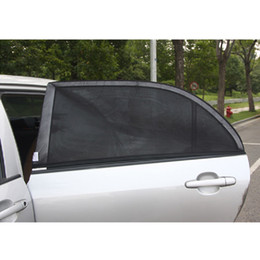 Wholesale Solar Car Cover - Auto Car Adjustable Side Rear Mesh Cov Black Mesh Solar Protection Car Cover Visor Shield Sunshade UV Protection Size L