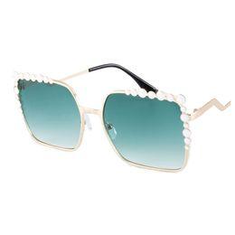 gradient color sunglasses NZ - Women Girl Sunglasses Eyewear Gradient Color UV400 Protection Square Shaped Metal Frame Resin Lens Outdoor Eyeglasses