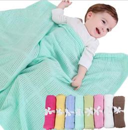 Wholesale Home Baby Bedding - 70*90cm baby Blanket Knitted Crochet Sleeping Bags Toddler Newborn Photo Swaddling Nursery Bedding Stroller Cart Swaddle Robe