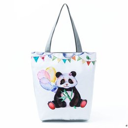 66740322ffe0 Bags for Women 2018 Cute Panda Printed Shoulder Bag Female Cartoon Design  Canvas Tote Handbag Women Shopping Bag Beach H74
