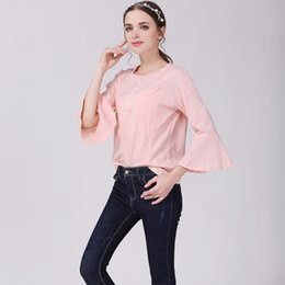 Discount cotton spandex shirt - Nursing Tops Maternity shirt pink cute Breastfeeding Clothes for Pregnant Women Fashion style Cotton Comfortable Nursing Clothes