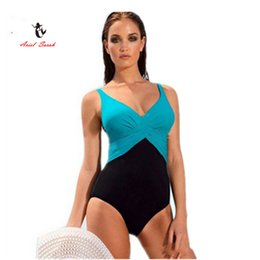 Wholesale brazilian bikini set xs - 2017 One Piece Swimsuit Brazilian Bikini Set Sexy Tankini Set Beachwear Plus Size Swimwear Women Black Bathing Suit XXXXL BJ239