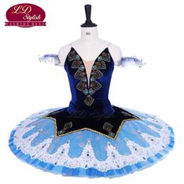 Traje de cascanueces online-Adultos Royal Blue Ballet Tutu The Nutcracker Performance Stage Wear Mujeres Light Blue Ballet Dance Competencia Trajes Falda de Ballet para Niñas