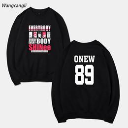Wholesale Kpop Anime - 2018 SHINee Jonghyun Anime Kpop Hoodies Sweatshirt Women Men Spring Sweatshirts Hoodies Mulheres Kpop Warm Clothes WANGCANGL
