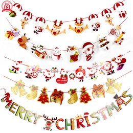 Wholesale Banners Wall Hangings Decorazioni natalizie Clearance Ornaments Pendant Xmas Ornaments Buon Natale Decorations Indoor for Home